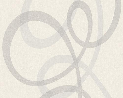 96189-1 Royal Fleece Modern Metallic Silver white Swirl Paste the wall Wallpaper