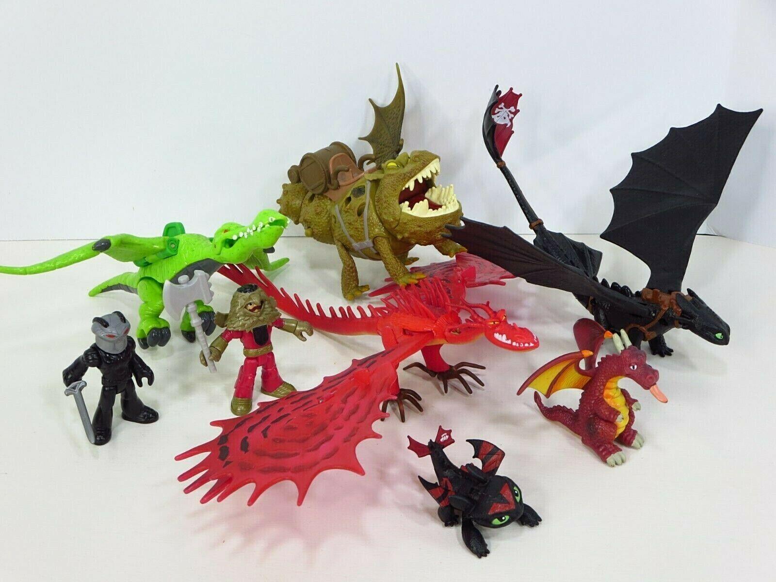 How to Train Your Dragon Hookfang Grump Toothless Figures Defenders Berk Lot