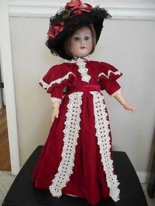 Two-dolls-Antique-German-doll-19-1-2-inches-12-inch-Maryse-Nicole-companionl