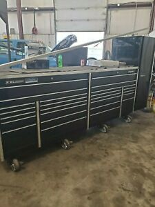 SnapOn tool box XXL stainless top with tools. Side locker has been sold.