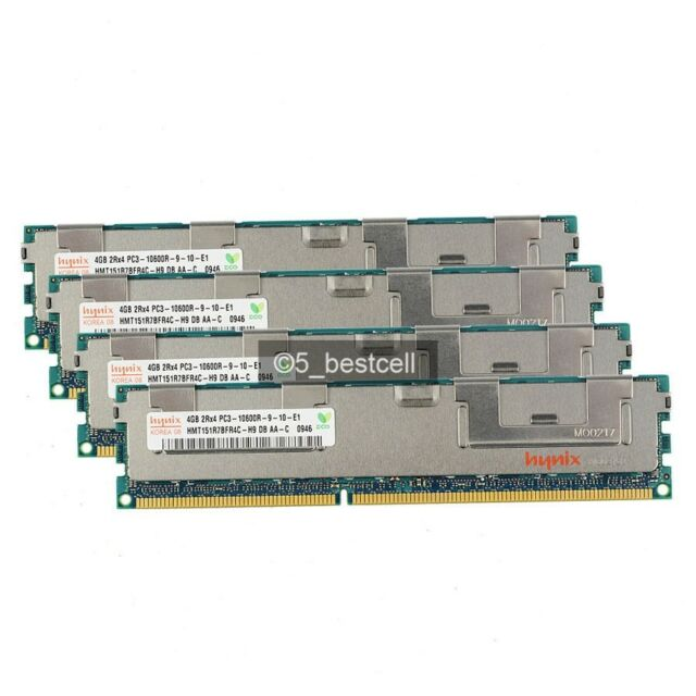 New Hynix 24GB 6x 4GB DDR3 1333MHz PC3-10600R ECC RDIMM RAM REG 2RX4 Server Only