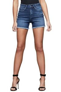 Good-American-Bombshell-Denim-Short-Size-14-32-Blue462-57