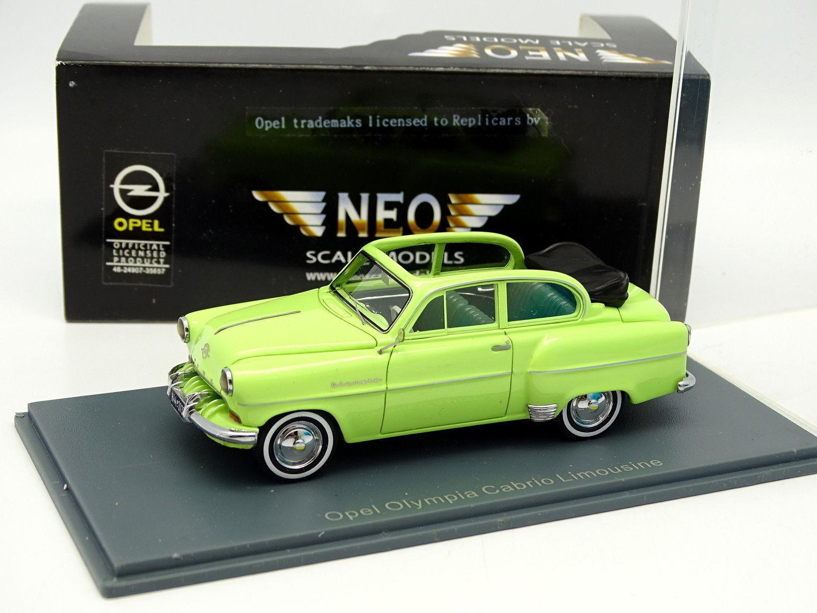 Neo 1 43 - Opel Olympia Cabrio Limousine greene