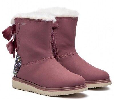 GEOX J844FA THYMAR scarpe bambina stivali stivaletti imbottiti pelle anfibi | eBay