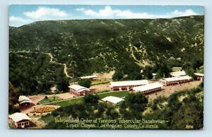 Lopez Canyon, LA County, CA - ORDER OF FORESTERS TUBERCULAR SANATORIUM POSTCARD