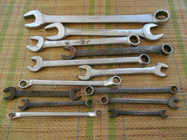 1-3//16 in Striking Wrench 11 L Offset Proto J2619SW