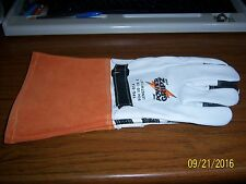 Linemenelectricianwelding Leather Gloves Lincoln Miller Power Gripz See Sizes