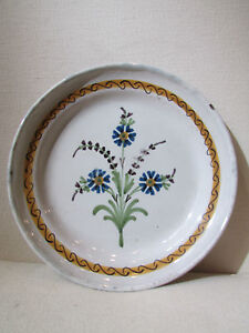 ancienne assiette en faience centre de la france a identifier decor floral 19eme Us4LUBeK-07195632-997636580