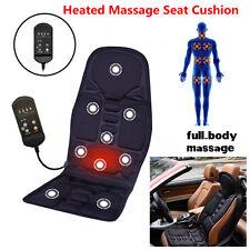 Car Seat Heat Massage Back Chair Cushion Pad Pain Lumbar Neck Shoulder Massager