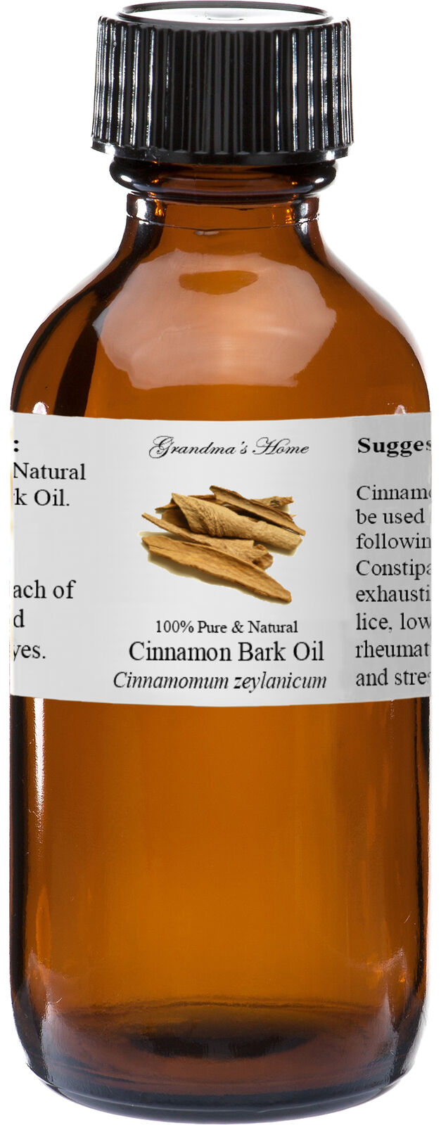 Cinnamon Bark Essential Oil - 4 oz - 100% Pure and Natural -