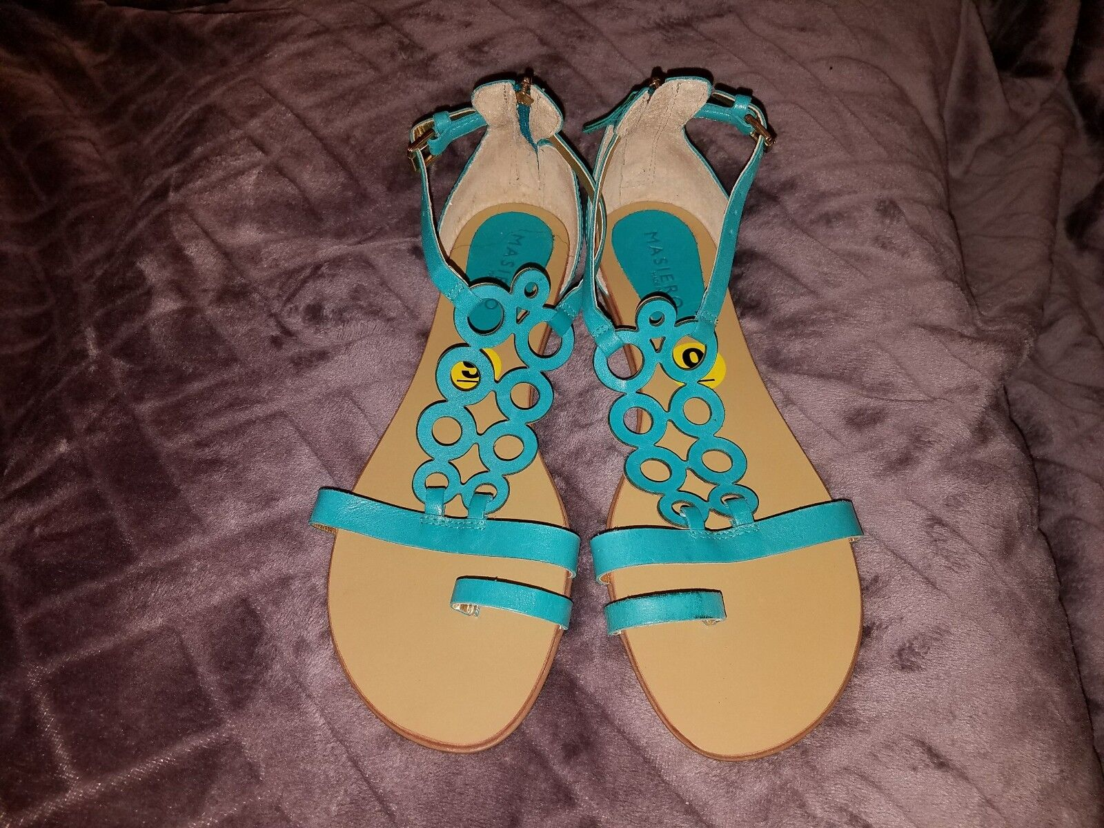 Gentlemen/Ladies womens High leather sandals size 9 High womens security low cost Export 33c2de