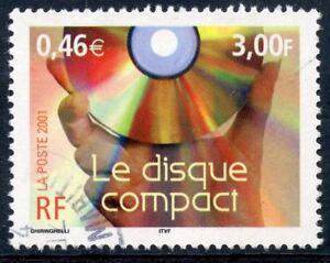 Timbre France Oblitere N° 3376 Le Siecle Au Fil Du Temps / Le Disque Compact Une Large SéLection De Couleurs Et De Dessins