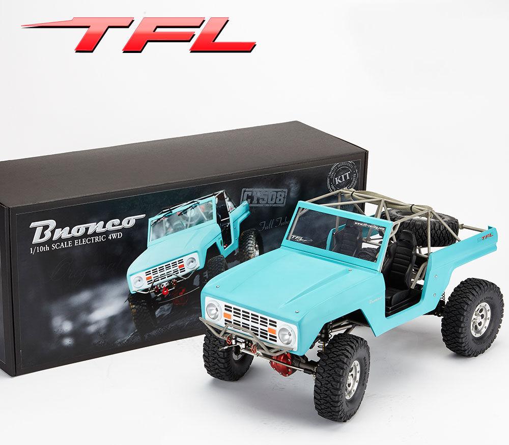 TFL RC coche 1 10 4WD SCX10 Bronco Chasis De Metal Modelo De Concha pintado Rock Crawler