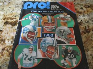 1980 Football Hall of Fame Program Signed By Jones, Lilly, Adderley, Otto