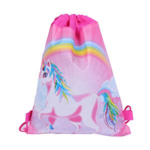 Unicorn-Drawstring-Backpacks-Kids-Back-Bags-Storage-Bag-Kids-Party-Gift-EB