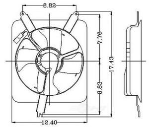 Engine-Cooling-Fan-Assembly-fits-1994-1997-Honda-Accord-GLOBAL-PARTS