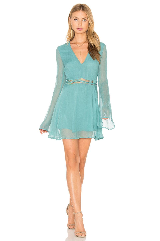 Anthropology The Jetset Diaries NEW La Isla Tunic Dress in Pale Jade Size M
