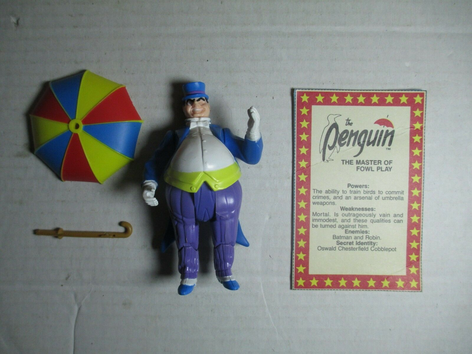 1985 DC Super Powers 4.5  The Penguin Action Figure Complete Kenner