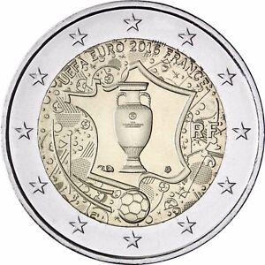 Frankreich 2 Euro Münze Fußball 2016 Bfr Gedenkmünze Uefa