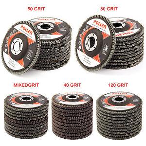 10-4-5-039-039-Flap-Discs-Wheels-Grinding-Sanding-40-60-80-120-Grit-Angle-Grinder