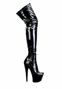 Ellie-Shoes-7-Inch-Pointed-Stiletto-Stretch-Thigh-High-Boots-Women-039-s-Size-Shoe