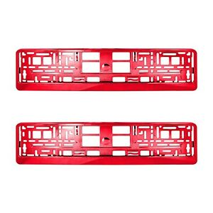 2-x-RED-Chrome-Number-Plate-Holder-Surround-Car-The-Best-Good-For-Car-Van-M