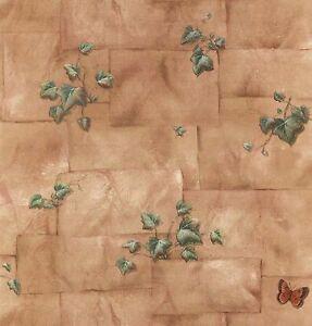 KITCHEN-ART-LEAVES-BRICKS-BUTTERFLY-Wallpaper-KA23649