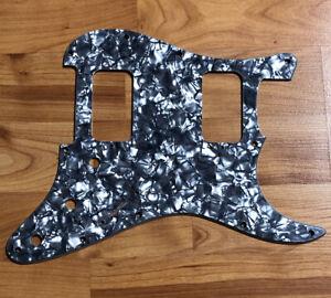 NEW-Black-Pearloid-HH-Stratocaster-PICKGUARD-for-Fender-Strat-Humbucker-Pickups
