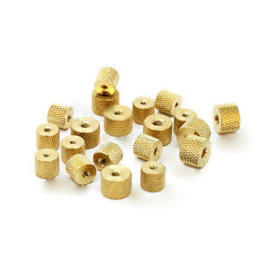 5Pcs M8 Thread Solid Brass Knurled Thumb Nut Insert Embedded Part 10mm