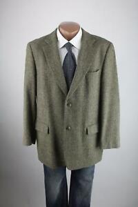 Stones TWEED JACKET JACKET SIZE 50 Virgin Wool Jacket Fischgrät Top Condition