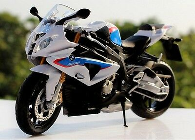 Free Shipping 1:12 BMW S1000RR Sport Motorcycle Motorbike Model Blue White New