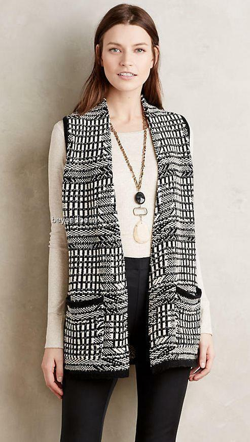 NEW Anthropologie Roenne Vest by Angel Of The North  Size S-MP-L