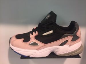 fd0a2811af7 Adidas Originals Women s W Falcon Black Light Pink Blue White Sz 6 ...