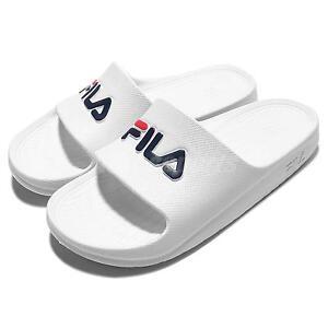 bddf1a507e Détails : Fila S355Q Solid All White Navy Red Men Sport Sandal Slides  Slippers 4-S355Q-113