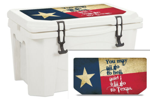 USATuff Custom Cooler Wrap Decal fits Grizzly 75qt LID Texas Go To