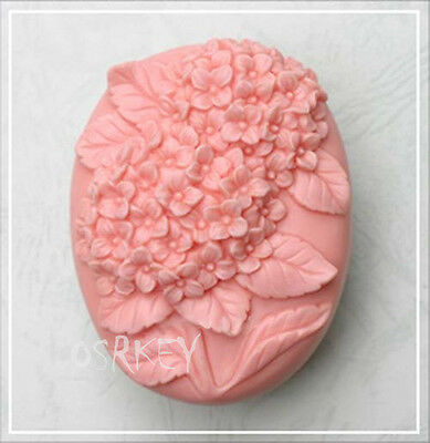 Hydrangea Flowers S043 Silicone Soap mold Craft Molds DIY Handmade soap mould