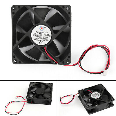 8025S DC 24V Brushless Cooling Fan 7 Blade 2 Wires Blower Heatsink 80x80x25mm