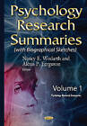 Psychology Research Summaries: Volume 1 : With Biographical Sketches by Nova Science Publishers Inc (Hardback, 2015)