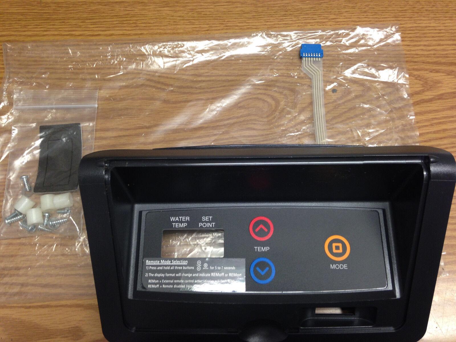 Raypak Digital 009491F Control Panel faceplate Thermostat Label & Screws Set
