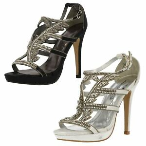 f27e497d87 Image is loading LADIES-ANNE-MICHELLE-DIAMANTE-DETAIL-HIGH-HEEL-OPEN-