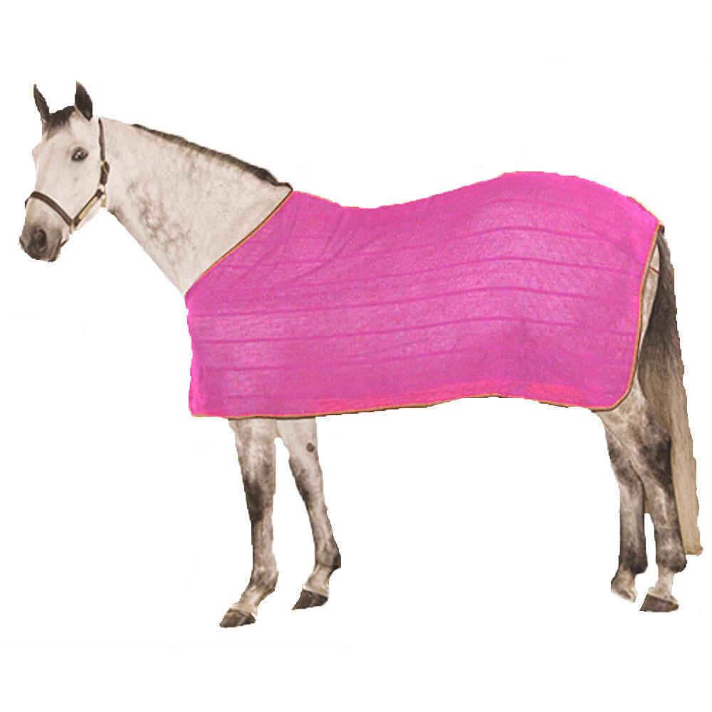 NEW High Spirit Irish Knit Anti-Sweat Sheet Contrasting Trim Tail Piece Pink