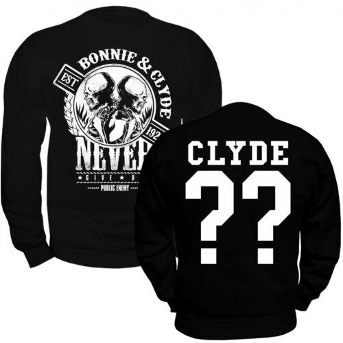 Sweatshirt Gangster Pullover Wunschzahl Personalisier Bonnie Clyde Individuell amp; vxdF7qUwd