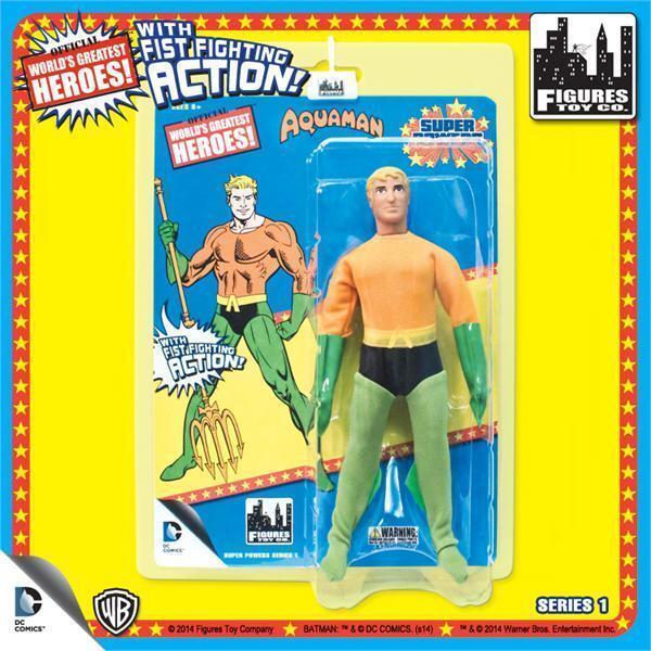 DC Retro Mego Kresge Style Super Powers Aquaman Action Figure
