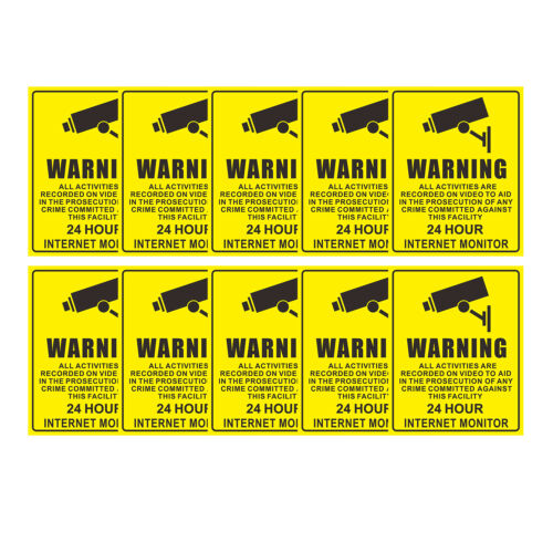 Home Warning CCTV Security Surveillance Camera Decal Sticker Sign 200x250mm 10X