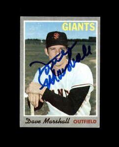 Dave Marshall Hand Signed 1970 Topps San Francisco Giants Autograph