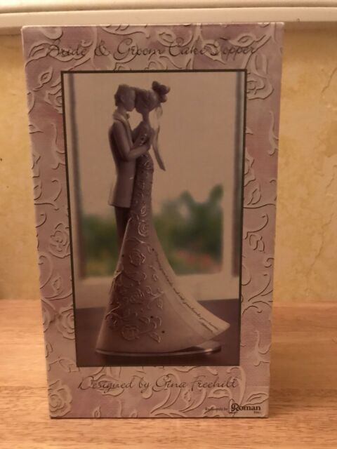 "Gina Freehi Language of Love /""Cherish/""  9/"" Bride /& Groom Cake Top Topper Wedding"