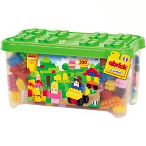 Erste-Grosse-Steckbausteine-Abrick-Bausteine-Spielplatte-300-Teile-Box-Kiste-Set
