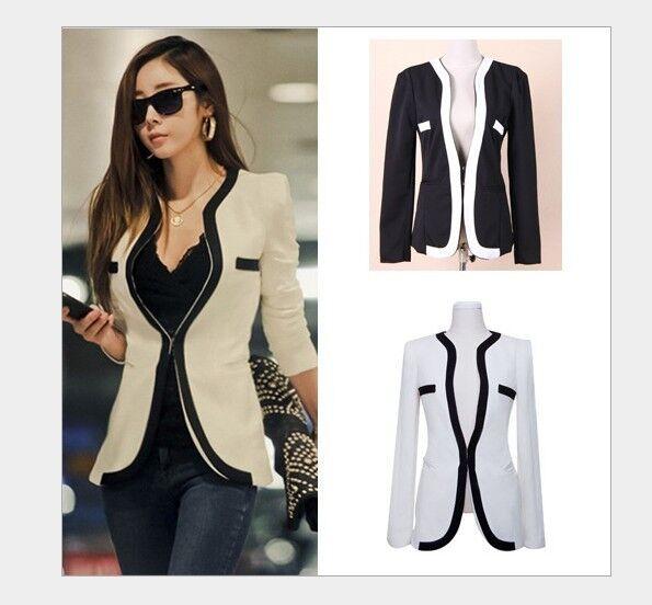 Big Sale! New Women's Stylish Slim-Fit KZ PZ FZ BZS CZ Blazer Jacket