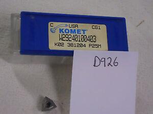 10-NEW-K02-381204-KOMET-CARBIDE-INSERTS-W29-24010-0403-GR-P25M-USA-MADE-D926