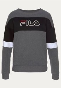 Details zu FILA Damen Sweatshirt Pullover Tiddly Crew Grau 682061 Gr. M  (c360)
